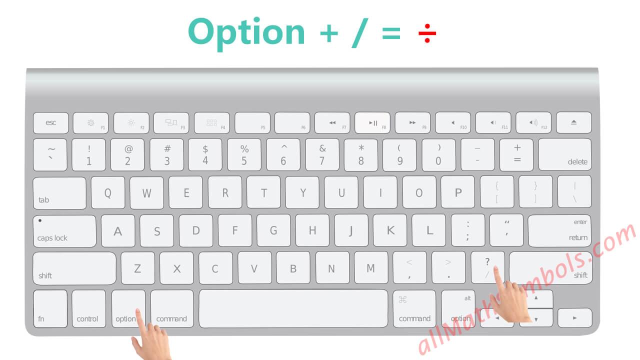 type division symbol on mac