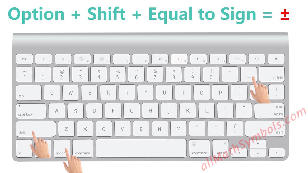 plus-minus sign-type plus-minus symbol on Mac